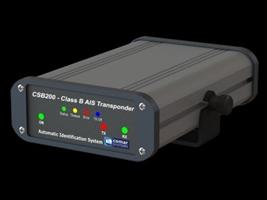 In de kaartentafel de Comar CBS200 AIS transponder