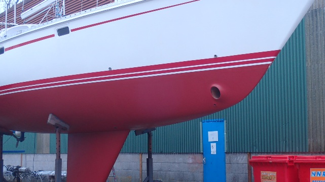 Weer antifouling over het coppercoat