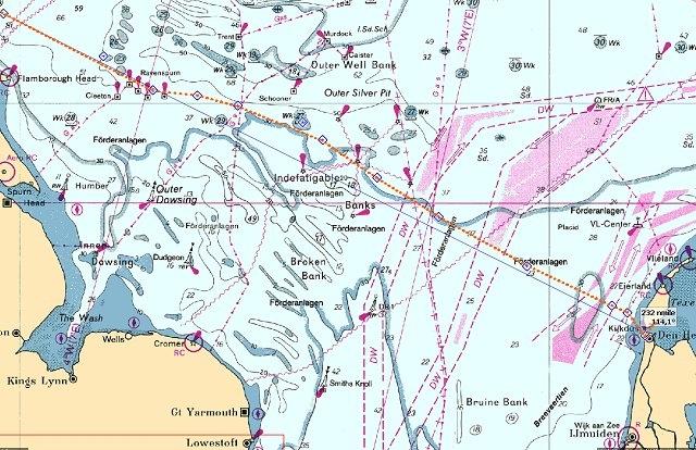 Route Hartlepool- Oudeschild