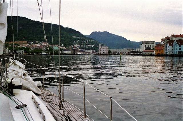 Aankomst in Bergen