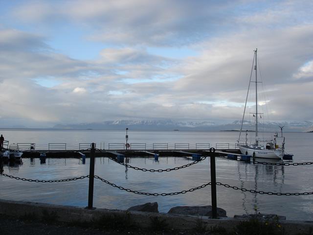 Weinig boten in Harstad