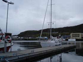 Aan de steiger in Skervøy