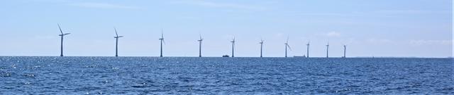 Windmolens ten zuiden van Samsö