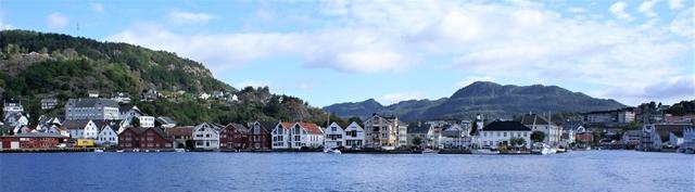 Zicht op Flekkefjord