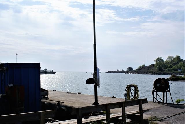 Vissershaven Grisslehamn, op de achtergrond de uitgang