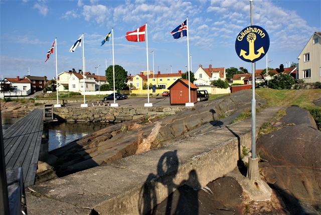 Scandinavische vlaggen in Öregrund