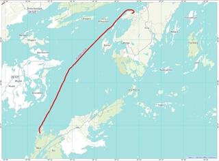 De route Rånö – Ornö