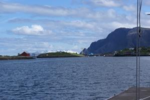 Het uitzicht in Bronnoysund