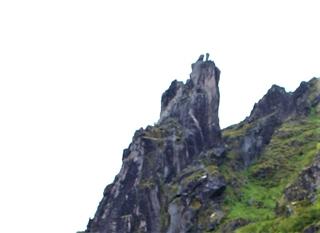 De hoorns van de geit op Svolvaergeita