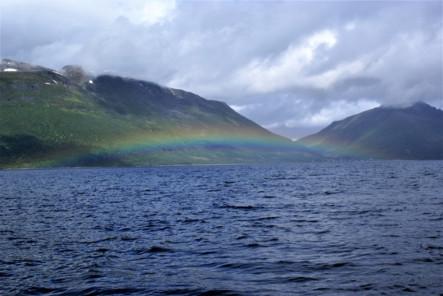 Een van de vele prachtige regenbogen die we onderweg zagen
