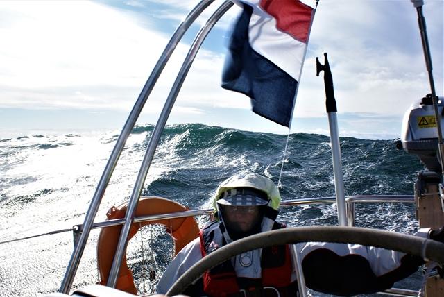 Hoge golven op het Skagerrak