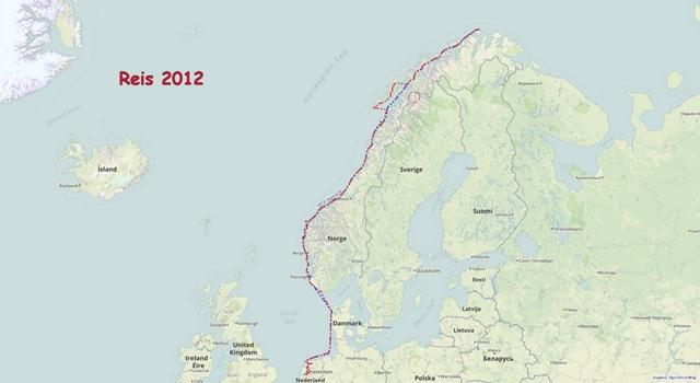 De heenreis 2012: Voor de tweede keer naar de Noordkaap