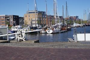 In de Zuiderhaven van Harlingen