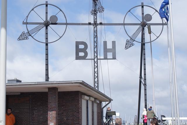 De semafoor in Cuxhaven