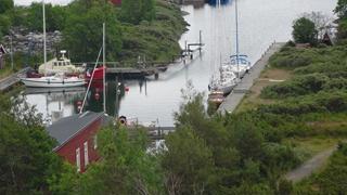 De loodsboot, vanuit de vuurtoren