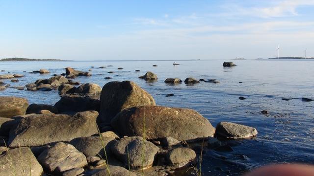 maar vlak voor de kust is de bodem niet erg vriendelijk voor de kiel