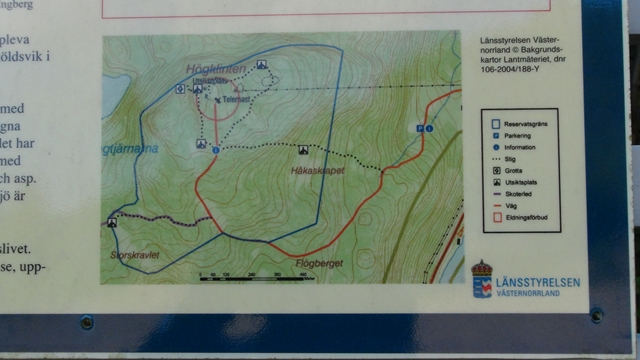 De trails afgebeeld op een info bord
