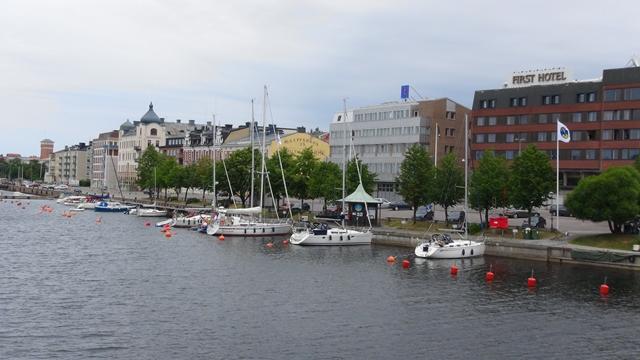In Härnösand aan de stadskade