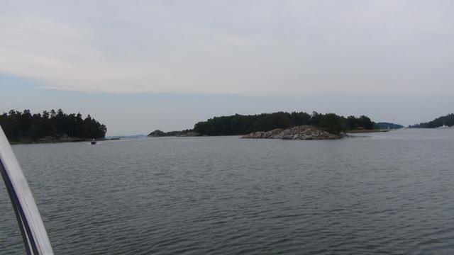 Ankerplek in de Kyrkvik, Utö