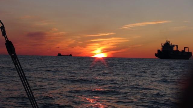 Een prachtige zonsondergang rond 21:00 uur