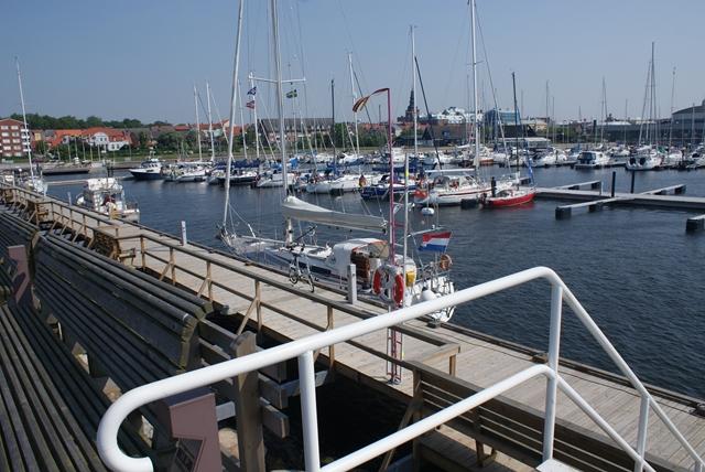 De nieuw ingerichte haven van Ystad