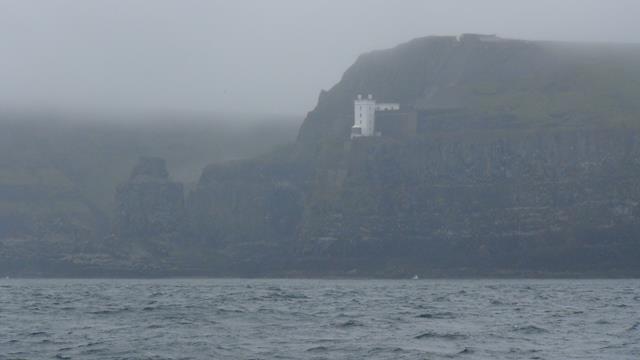 De 'West Lighthouse' van Ratlin Island bij 'poor sight'