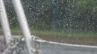 Stromende regen, we 'genieten'