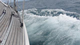 Het water was al weer een stuk rustiger zo dwars van Rora Head op het eiland Hoy