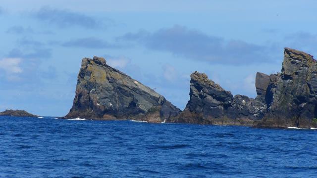 Binnenkomst bij de Shetlands