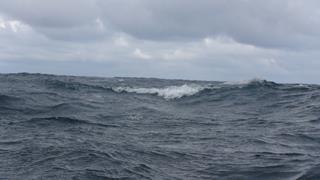 Stevige golven en grauwe luchten