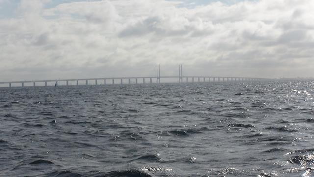 De brug tussen Kopenhagen en Malmo