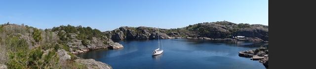 Olavsundet, een geweldig panorama