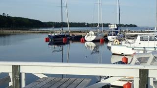 Het haventje van Store Rör, 's morgens vroeg
