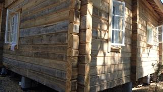 Het huis gebouwd via de blokhutmethode