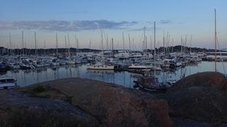 Een klein stukje van het jachthaven complex in Hanko waar twee havens zijn