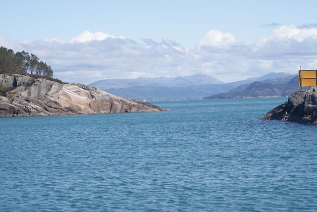 De Korsfjord, vanaf onze ligplaats in Kleppevika