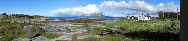 Een panorama tijdens de wandeling