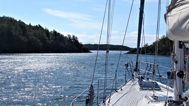 Een prachtig beschut baaitje op het eiland Skarvøy bij Farsund