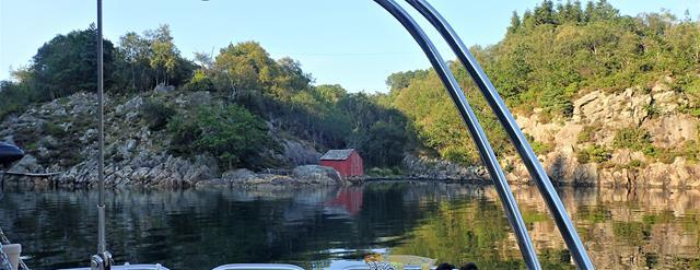 Ankeren in Øydjordsvågen op Stord